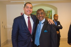 Don Peebles with HBA Chairman Walter Edwards